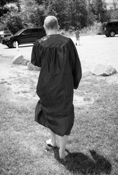 Our barefoot graduate