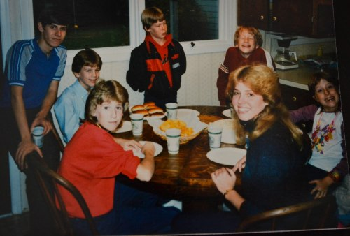 Here I am in all my mullet glory with some younger cousins.
